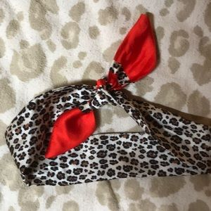 Head wrap or neck scarf.  Perf for year round